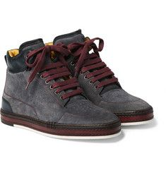 various colors e3210 9f553 Berluti Ferro Suede and Leather High-Top Sneakers Casual Sneakers, High Top  Sneakers,
