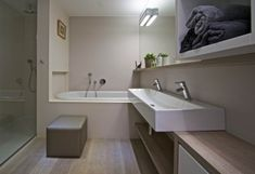 Výsledek obrázku pro koupelna v panelaku Corner Bathtub, Alcove, Bathroom Lighting, Furniture, Home Decor, Bathroom Light Fittings, Bathroom Vanity Lighting, Decoration Home, Room Decor