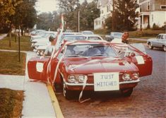 """vintage everyday: """"Just Married!"""" – A Collection of 17 Cool Wedding Cars from the Past"""