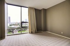 Another view of the Master Bedroom with the fabulous East view of Downtown and the Uptown Park area!