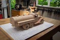 Gas & Oil Truck | Made from Toys and Joys plan. | 45South | Flickr Awesome Woodworking Ideas, Woodworking Videos, Custom Woodworking, Woodworking Plans, Woodworking Projects, Wooden Toy Trucks, Plan For Life, Outdoor Sheds, Kids Toys