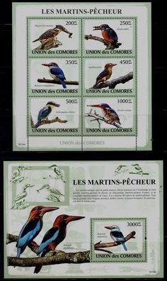 Fauna 2009 Comoros Birds MI No 2184 90 MNH VF | eBay