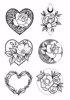 Blumentattoo -  #Rose tätowieren #Blume tätowieren #Herz tätowieren #dotwork #schwarz tätowieren #tätowieren   - #blumentattoo #firsttattooideas #girltattooideas #ringfingertattoo