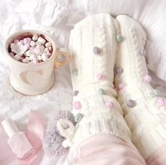 Cosy toes, fab feet and hot chocolate 😊❤ Everything Pink, Getting Cozy, Pink Christmas, Winter Christmas, Pink Aesthetic, Aesthetic Beauty, Girly Girl, Warm And Cozy, Hot Chocolate