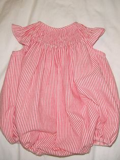 Baby Pink Gingham Bow Velour Smocked Babygrow By Dandelion Easy To Repair Girls' Clothing (0-24 Months)