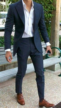 The Blue Suit Collection - Although most of us as men in terms of clothing . - The Blue Suit Collection – Although most of us as men seem to be careless about clothing, in most - Formal Casual Outfits, Mens Casual Suits, Traje Casual, Men's Suits, Blue Suit Men, Blue Suits, Costumes Bleus, Tuxedo Coat, Suit Combinations
