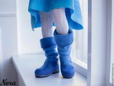 e4d3daee8 Купить Сапожки валяные Эльза холодное сердце - голубой, сапожки ручной  работы, детские сапожки