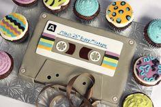 80's Cassette Tape Cake