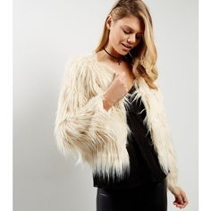 New Look Apricot Cream Faux Fur Jacket (£15) ❤ liked on Polyvore featuring outerwear, jackets, cream, cream faux fur jacket, faux fur jacket, cream jacket and fake fur jacket