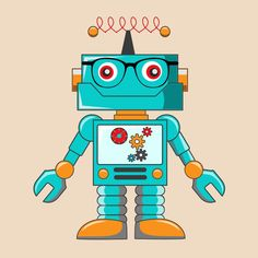 Hipster Robotic Illustration Free Vector Vector Robotic Obtain Robot Clipart, Vector Robot, Online Card Maker, Robot Illustration, Robots Characters, Arte Robot, Large Metal Wall Art, Powerpoint Template Free, Program Template