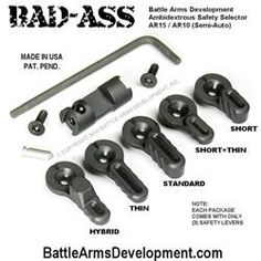 User posted the cad files to the Battle Arms BAD ASS Ambidextrous Safety Selector over on grab cad. Ar Parts, Rifle Accessories, Ar 15 Builds, Ar Build, Tac Gear, Guns And Ammo, Tactical Gear, Badass, Weapons