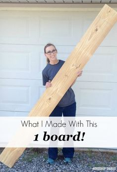 Diy Wood Projects Discover What I Made with This ONE Board! How to build an adorable DIY bar cart from a single board of construction lumber for the and more challenge. Includes video and picture tutorial Small Woodworking Projects, Scrap Wood Projects, Diy Furniture Projects, Woodworking Tips, Furniture Design, Carpentry Projects, Woodworking Furniture, Easy Small Wood Projects, Pallets