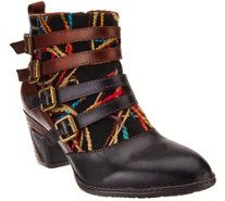 Spring Step L'Artiste Leather Ankle Boots - Redding - A334165