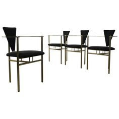 Set of Four Maison Jansen Dining Room Chairs