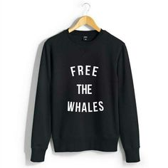 Free the Whales Women's Sweatshirt Help support Tilikum with stylish sweatshirt…