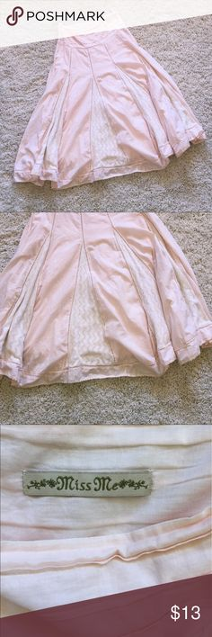 Miss Me plush pink skirt brand new condition! Perfect for summer/spring time. 36 inches Miss Me Skirts Midi