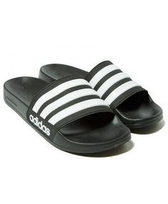 new styles df050 bdfea Buy Mens Adidas Cloudfoam Adilette Slides Black Sneakers Online Shop
