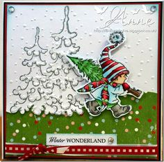 week 44 - snow is falling - november Christmas Picks, Christmas Crafts, Christmas Ornaments, Christmas Trees, Scrapbook Journal, Marianne Design, Christmas Animals, Lily Of The Valley, Copics