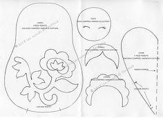 Armarinho São José, Aviamento, Tricô, Crochê, Barbante, Agulhas, linhas para Costura: Patchwork - Boneca Matrioska