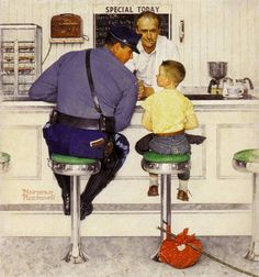 American illustrator Normal Rockwell produced this piece for the cover of the September 20, 1958 issue of The Saturday Evening Post.