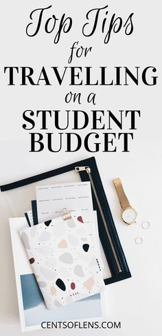 Find out how you can save money and travel more with these top tips for travelling on a student budget! With these hacks, you'll be able to spend more time enjoying yourself and less time worrying about your budget. Money Tips, Money Saving Tips, Budget Travel, Travel Tips, College Survival, Student Travel, Good Student, Managing Your Money, College Hacks