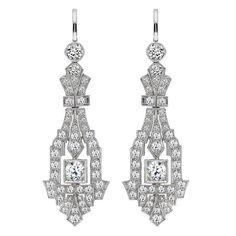 Art Deco Diamond Chandelier earrings