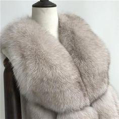 Luxurious 100% Genuine Thick Fox Fur Jacket Fox Fur Jacket, Fur Coat, Luxury, Leather, Jackets, Style, Down Jackets, Swag, Fur Coats