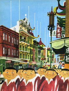 Miroslav Sasek - Chinatown, San Francisco. #sanfrancisco  #watchwigs www.youtube.com/wigs