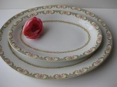 Vintage Haviland Limoges GDA Pink and Blue Floral by thechinagirl, $38.50
