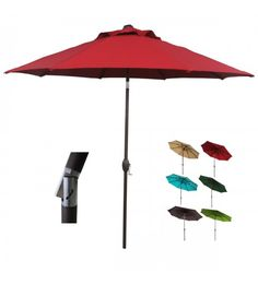 Abba Patio® 9 Ft Market Aluminum Umbrella With Auto Tilt And Crank, 100%