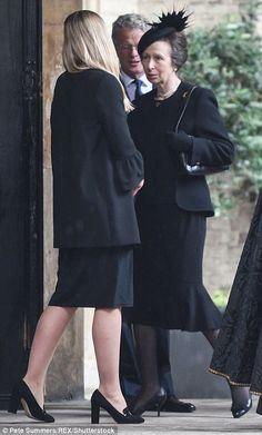 Princess Anne at Countess Mountbatten funeral 27 Jun 2017