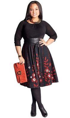 IGIGI by Yuliya Raquel Plus Size Lynette Sweater Dress in Black for only $122.00