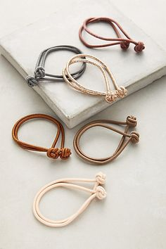 Knotted Hair Ties #anthropologie