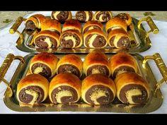 Dvojfarebné mini záviny s orechmi - ako pavučinka: To cesto si zapíšte, pečivo ostáva mäkučké celé dni! Russian Desserts, Bulgarian Recipes, Kefir, Hot Dog Buns, Just Desserts, Scones, Doughnut, Bread Recipes, Nutella