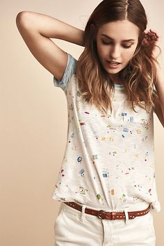 This shirt looks cute and fun for summer! | Beachy Tee #anthropologie