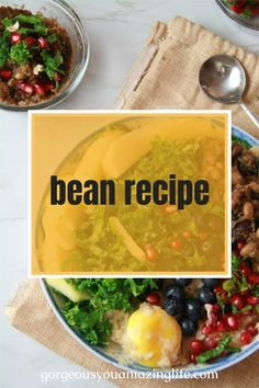 Learn how to meal this easy crockpot bean recipe one time and enjoy throughout the week for weight loss and improved health! Video tutorial included! Healthy Food Choices, Healthy Life, Healthy Living, Easy Bean Recipes, Vegan Recipes, Daily Meals, Learn To Cook, Plant Based Diet, Gut Health