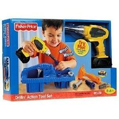 Fisher-Price Drillin' Action Tool Set (age: Age: 2 years and up) -- Click on the image for additional details.