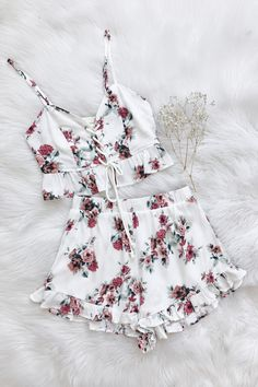 Sicily Short Set back in stock! Shop the look at Frankie-Phoenix.com <3 #shorts #floral #romper #summer