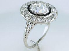 Vintage Antique GIA Certified 3.25ct Diamond Platinum Art Deco Engagement Ring