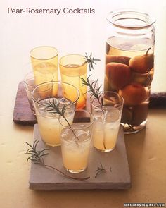 Pear & Rosemary Cocktails. Click the pic to get the recipe & more!