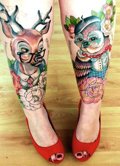 A Collection Of Intensely Beautiful Tattoo Art - DesignTAXI.com..... This is precious!