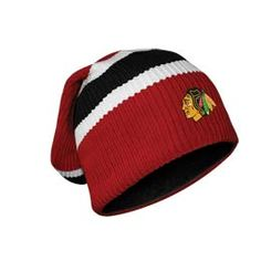 Official Chicago Blackhawks Hockey Floppy. This is a traditional winter toque made from warm fleece lined hockey sock. The toque is officially licensed by the NHL and features an embroidered team logo on the front. #SupportYourTeam in style.