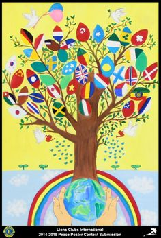 2014-15 Lions Clubs International Peace Poster Competition submission from Koshigaya Heisei Lions Club in Japan