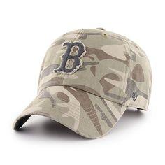5b980bbe805 Boston Red Sox 47 Brand Camo Tarpoon Faded Adjustable Hat
