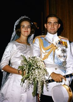 1964: Princess Anne Marie of Denmark and King Constantine II of Greece