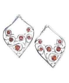 Another great find on #zulily! Fire Topaz & Sterling Silver Teardrop Drop Earring #zulilyfinds