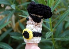 """Free pattern for """"Pirate King Finger Puppet""""...It is, it is, a GLORIOUS thing!"""