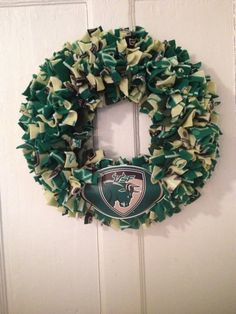 USF wreath University of South Florida by MOSTaDOORableWREATHS