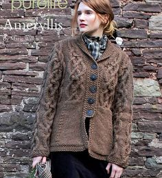 Chunky knit short and  long and button style cardigan designs (10)