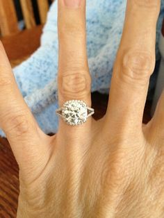 Amy's engagement ring!!!! @Amy Lyons Lyons Hicks  love!!!